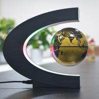 Forma C Levitazione magnetica Geografia Globo Globe Globo Galleggiante Mappa del mondo Tellurion Led Light Terrestre Bambini Apprendimento giocattoli Globo Antigravity Magia