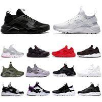 New nike air huarache huaraches 4.0 1.0 Classical Triplo Branco Preto Vermelho tênis para esportes homens mulheres moda Sneaker formadores tamanho 36-45