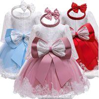Robe anniversaire bébé pour Noël bébé Baptême Robes dentelle 1 2 ans Baby Party Tenues enfant en bas âge Christening Vestido 1Y