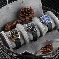 1/2/3 Grids Grids Box Ecidentalmente custodia in ecopelle Orologio Case Organizzatore Portatile per orologi automatici di quarzo Scatole di gioielli Display regalo Roll Pack