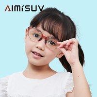 Sonnenbrille Mode oval Blaulicht Blockiergläser Kinder Mädchen 2021 TR90 Flexibler Rahmen Computer Gaming Brillen Kinder UV400