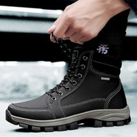 2020 New Cross-Border Large Size 39-45 Cotton-Padded Shoes with Velvet A9718 Fashion Trendy High Top Work Boots Mens Outdoor Casual Shoes Le