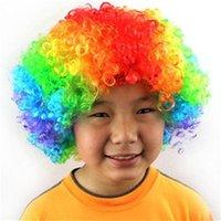 Sıcak Büyük Saç Peruk Çok Renkli Komik Palyaço Peruk Erkekler Kadınlar Parti Başlık Fan Partileri Malzemeleri için 5 2JH E1