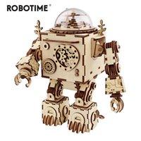 Robotime 5 tipi Ventilatore rotabili in legno fai da te Steampunk modello edificio kit assembly giocattolo regalo per bambini adulti LJ200928