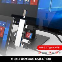 2 Renkler 6 in1 USB 3.0 Tip-C Hub USB 3.0x2 + SD + Mikro SD + HD + Tip-C Dönüştürücü Adaptörü Kart Okuyucu Yüzey Pro 7 için Uygun