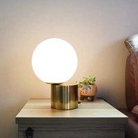 현대 럭셔리 침대 옆 테이블 램프 크리 에이 티브 디자이너 금속 기본 유리 공 빛 침실 학습 책상 램프