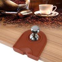 Manual Barista Café Espresso Multi-Função Engrossar Anti-Skid Resistência Desgaste De Café Tamper Titular Silicone Pad Mat Kitchen AC1