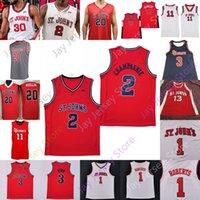Jersey Red Storm St. John Jersey NCAA College David Caraher Nick Rutherford Greg Williams Jr. Chris Mullin Metta World Peace Artest