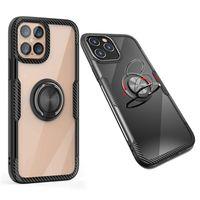 Coques de téléphone portable avec voiture Magnétique Kickstand Téléphones pour iPhone 12 Mini 11 PRO XS Max XR x 6 7 8 Plus Samsung Note20 S20 TPU Housse mobile antichoc
