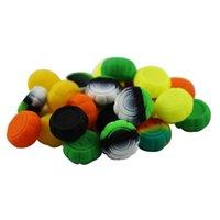 Nonstick Behälter Wachs Kürbisform Silikonkasten 6ml Silizium Behälter Smiley mit Lebensmittelqualität Gläser dab Werkzeuglager jar Halter OWC1554