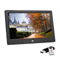 Novo tela de 10 polegadas LED Backlight HD 1024 * 600 Digital Photo Frame Eletrônico Álbum Imagem Função Completa Bom Presente