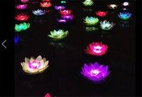Fleur de papier Lotus Lotus Wish Lantern Water Bougie flottante Légère Jaune Souhaitant Lampe Lotus Lampes Festival Décoration