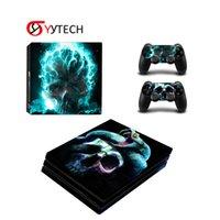 Syytech Toptan Konsolu Kontrol Süslemeleri PS4 Pro / Slim Video Oyun Aksesuarları için Cilt Çıkartmaları Kapakları