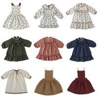 Liilu 2020 Nuovi Autunno Inverno Bambini Abiti per ragazze carino manica lunga stampa principessa vestito bambino bambino abiti moda abiti LJ200923