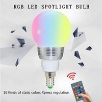 B22 E14 E27 RGB LED Glühbirne 3W 16 Farben Ändern Lampe Dekor und Fernbedienung Dekorationslampen