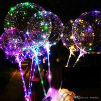 LED 보보 풍선 31.5inch 스틱 3M 문자열 풍선 LED 라이트 크리스마스 할로윈 생일 풍선 파티 장식 보보 풍선
