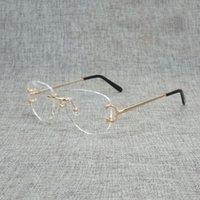 70% de rabais sur le doigt carré clair verre clair homme ovale c fil verres optiques métaux cadre oversize lunettes femmes pour lecture oculos
