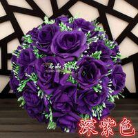 زهور الزهور الزخرفية بواسطة ems 30 سنتيمتر * 12 قطع روز تقبيل الكرة الاصطناعي الحرير زهرة الزفاف الديكور ديكور