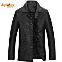 Veste en cuir d'hiver pour hommes épais épais chaude veste en cuir PU chaude Male affaires manteaux occasionnels Man Jauquetta Masculinas Plus Taille 4XL 201119