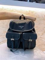 Мужские дизайнерские черные рюкзаки моды школьные сумки средних размеров сетевой размер нейлоновые сумки на плечо большой емкости внутренние карманы высокого качества