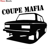 Three Ratels TZ-1272 15*17.3cm 1-4 pieces coupe mafia sticker funny car stickers decals