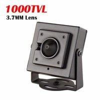 1000TVL CMOS Wired Mini Box Micro CVBS Telecamera di sicurezza CCTV con corpo in metallo 3.7mm Lens 700TVL Camera da interno