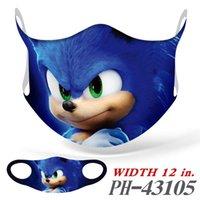 Designer desenhos animados Sonic Super voz mouse máscara 3d impressão cartão universal máscaras para homens e mulheres personalizadas máscaras criativas