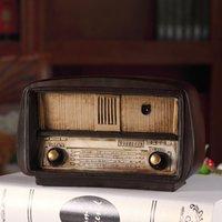 Europa-Art Harz Radio-Modell Retro Nostalgische Ornamente Vintage Radio-Craft Bar Wohnkultur Zubehör Geschenk Antike Nachahmung 1007