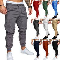Designer Sweatpants Mens Hip-hop 2020 Primavera e Outono nova lazer calças corda cor sólida desportivas elásticas da forma dos homens calças casuais