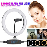 26 cm Maquiagem Profissional Completa Selfie LED Dimmable Ring Light Ring Light Cell Phone Holder Desktop Lamp per il trucco dal vivo