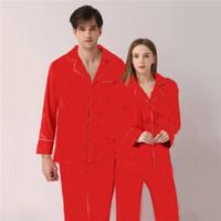 Límite de lujo Impresión Mujeres Hombres Ropa de dormir Finas parejas transpirables Red Pijamas Moda Ocio para mujer Ropa de casa