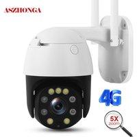 Caméra de sécurité WiFi 4G 4G 5MP 2MP 1080P HD 5X ZOOM OPTIQUE PTZ Caméra IP Caméra à domicile de la maison à la maison de la maison de la scène CCTV