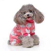 Hundebekleidung Katze Pyjamas Jumpsuit Pet Welpen Hemd Nachtwäsche Home Kleidung Apperal Eisbär Muster Kleidung Für kleine mittelgroße Hunde Katzen1