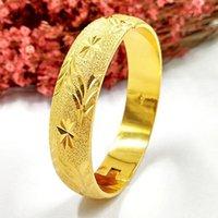 Pulseira 12mm espessura Ouro Amarelo Amarelo Cheio Mulheres Bonitas Bracelet Diâmetro 64mm (2,5 polegadas) 1