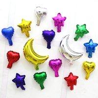 Decoración de la fiesta 20 / 50pc 5inch Star Heart Globo Multicolorour Lindo Foil Ballon para Baby 1st Feliz Cumpleaños Suministros de boda