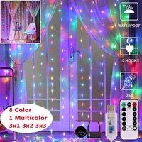 controle remoto explosivo USB fio cordas liderado cobre cortina de luz de 3 * 3 metros quarto decoração do feriado lanterna cortina da corda luz