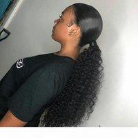 """5 couleurs disponibles 22 """"Long Long Kinky Curly Hair Hair Drawstring Clip de queue de queue de queue de queue d'extension de style Poileaux de queue de queue de queue 140g"""