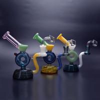 Hbking New Recycler DAB Rig Itey Glass Bong Acqua Tubo Acqua Colorato Borgler Oil Rig Mini Design unico con Banger