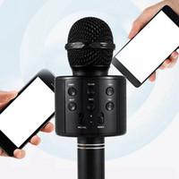 2020 Hot Po noir portable portable portable sans fil Bluetooth karaoke ok microphone et haut-parleur Bluetooth micro micro microphone KTV