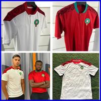 200 2021 모로코 Bennasser 축구 유니폼 집 멀리 20 21 Maillot de Foot Ziyech Boufal Fajr Munir Ait Amrabat 축구 셔츠