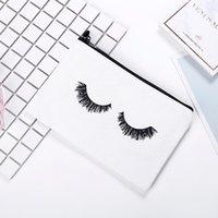 Impresión bolsa de bolsas de almacenamiento de lona Archivo pestañas de ojos cosmético estudiante adulto divertido lindo bolsillos multi función 3 8zx K2
