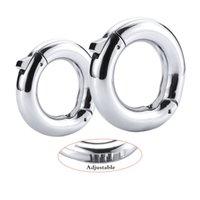 Nuovo anello di Glans regolabile in metallo, anello del pene ritardo del prepuzio, anello del cazzo, anello maschio della circoncisione dei giocattoli del sesso del cockring per gli uomini
