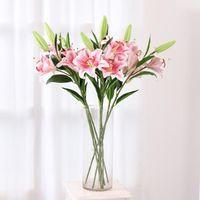 Casamento Casa Party For Flor 1Pc Lily Bouquet Flor Artificial real toque de decoração DIY artificiais Props Falso disparo