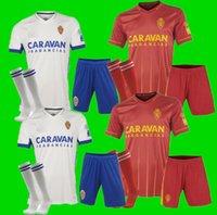 Männer Kids Kit 20 21 Echte Zaragoza Fußball Jersey 2020 2021 Shinji Kagawa André Pereira Alberto Soro Camisetas de Futbol Set Football Hemden