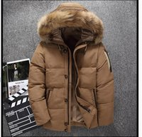 Down jacket men's coat men's casual fur hats thick windproof winter jacket brand clothing parka