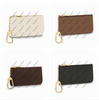 Moda Anahtar Kılıfı Pochette Cles Bayan Erkek Kahverengi Eski Çiçek Anahtarlık Kredi Kartı Tutucu Sikke Çanta Mini Cüzdan Çanta Kutusu