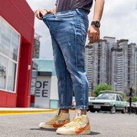 Jeans pour hommes Mode Plus Taille Taille Hommes Décontracté Denim Pantalon Dégusté Loable Baggy HiPhop Harem Pantalons Streetwear Vêtements