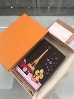 Billetera de cuero de moda clásica de diseñador famoso para hombres y mujeres, billetera, bolsa de bolsillo de diseño de lujo, libro de bolsillo, bolsa de tarjetas, M68493
