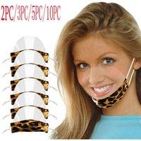 Maschere per feste Le labbra Video Visual Transparent Stampato PVC Mascarillas Mondkapjes Wasbaar Halloween Cosplay Masque Lavable Cubre Bocas
