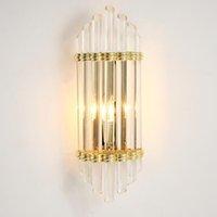 Yeni Modern duvar lambası kristal ışık lüks İskandinav salon dekorasyon otel LED E14 duvar aydınlatma